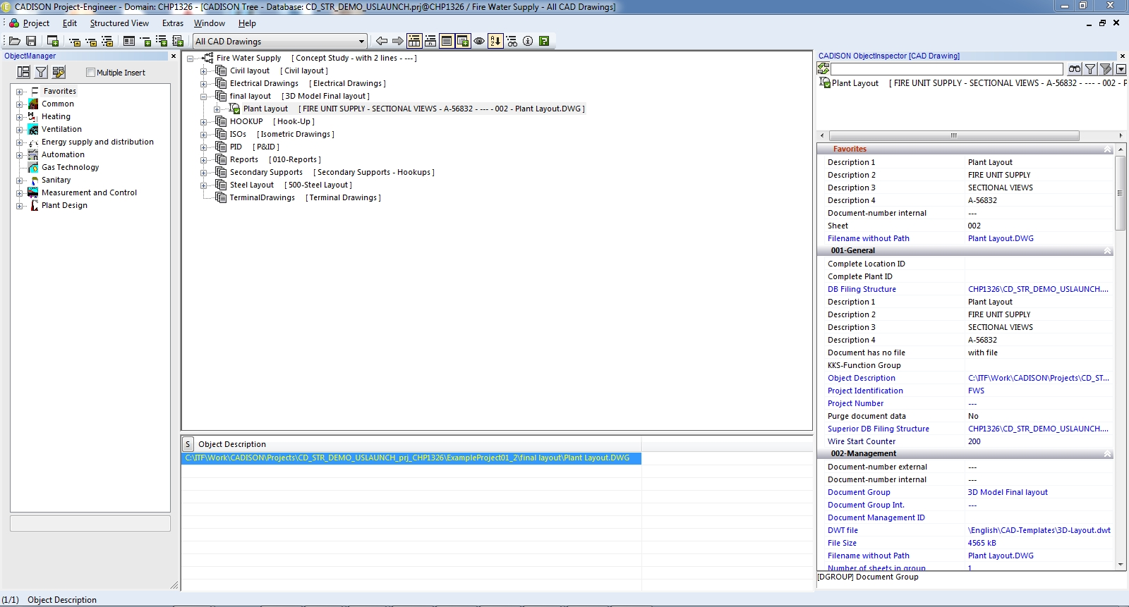 Cadison Project Engineer Advanced Project Data Management Software