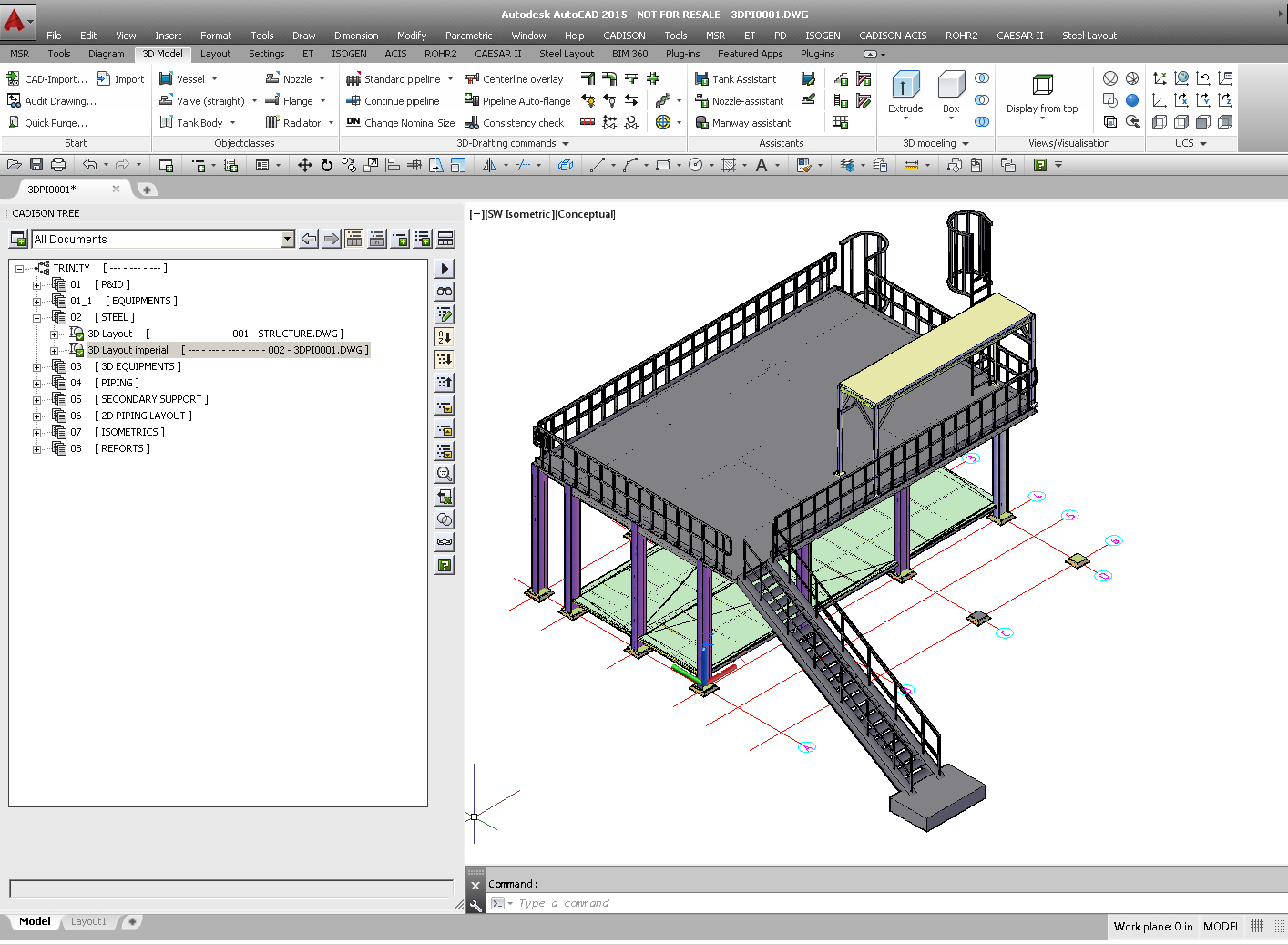 Software For Steel Structure Layout Piping Autocad Creation
